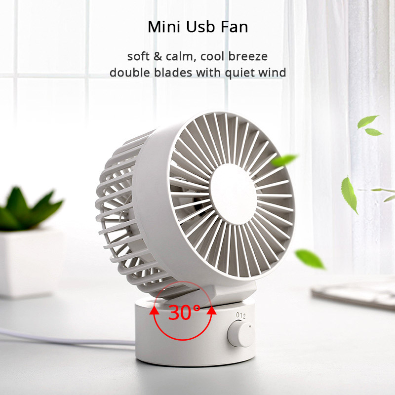 Ventilateur USB d'été créatif Mini ventilateur USB pour bureau maison plage Portable 2 vitesses ordinateur PC ventilateurs avec Double côté ventilateurs lames ventilateur