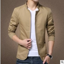 Youth City Business Slim Men's Cotton Top Jacket Jacket-style Suit Men's Large Size Casual Dress Spring and Autumn Coat S-5XL цена