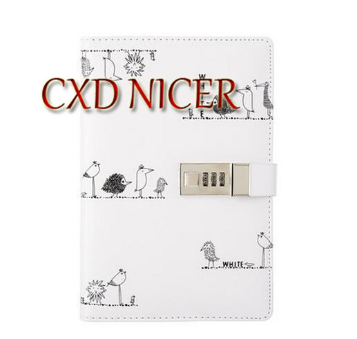 A5 With Lock Code Creative Simple And Cute Notebook Diary QM45 for pc and mac nobletlocks ns20t xtrap notebook cable lock laptop lock 6feet