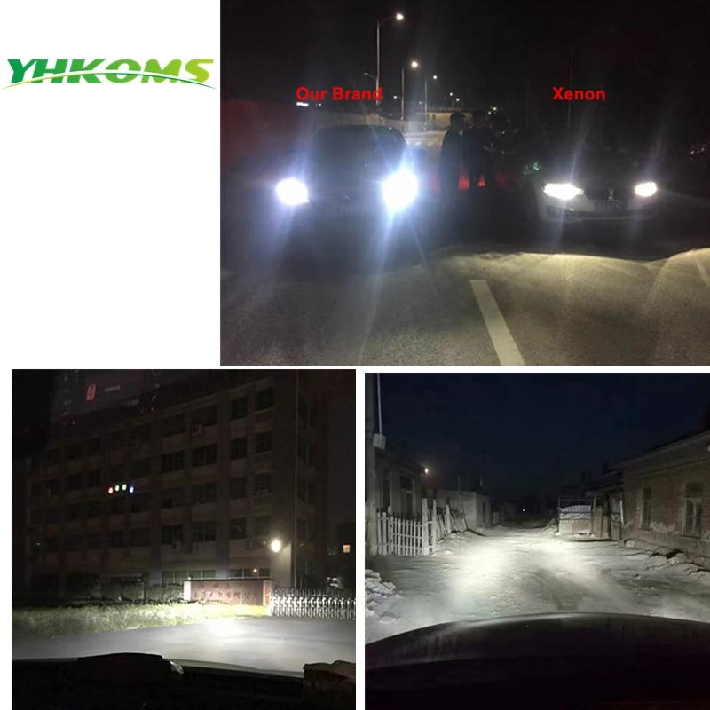YHKOMS H8 H9 H11 LED llambë LED H4 Llambë automatike të ulët të - Dritat e makinave - Foto 5