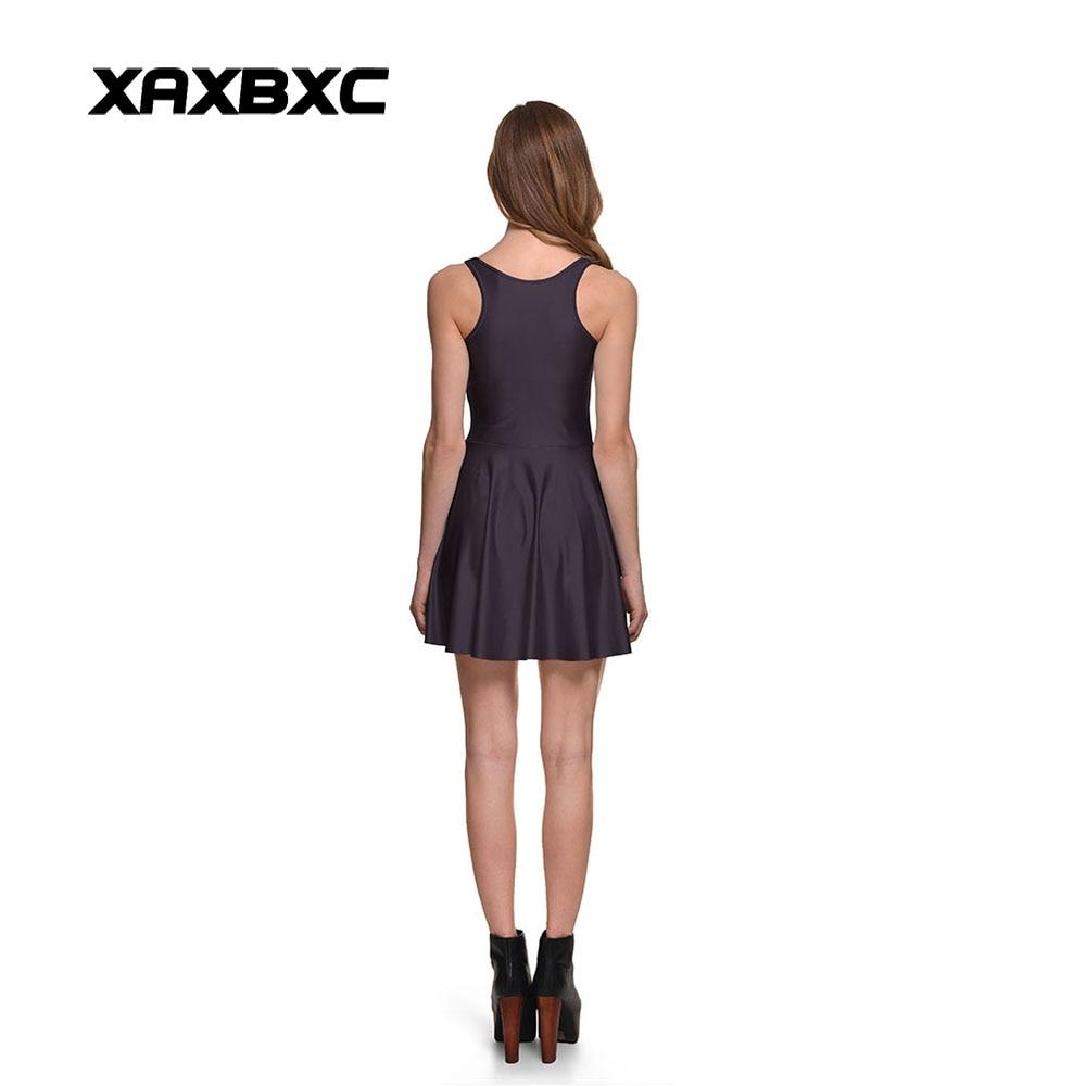 XAXBXC New 1305 Summer Sexy Girl Dress Bite Me Blood Letters Prints Reversible Vest Skater Women Pleated Dress Plus size