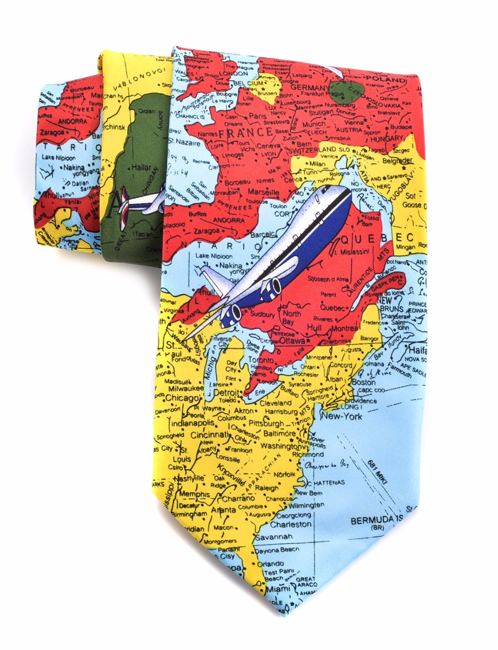 Fuerjia2017 innovative design 10cm wide high grade polyester fuerjia2017 innovative design 10cm wide high grade polyester fabric interesting map tie universal print tie wholesale in ties handkerchiefs from mens gumiabroncs Images