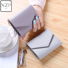 XZP Short Wallet Women Mini Tassel New Fashion Purse Female Wallets Korean Students Lovely Girls Small