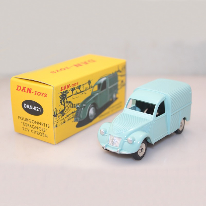 11.11 Atlas 1/43 Diecast DAN Toys DAN- 021 CITROEN 2CV FOURGONNETTE van ESPAGNOLE Postal Vehicles Models Car Collection Gifts