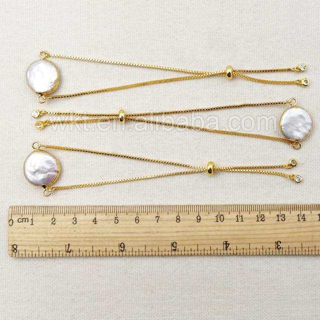 Женские браслеты из пресноводного жемчуга с гальваническим покрытием