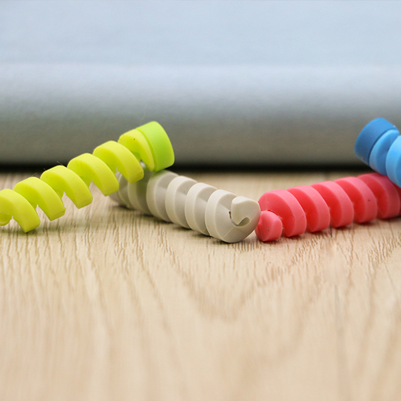 6pcs set Cable protector Bobbin winder Data Line Case Rope Protection Spring twine For iPhone Android 6pcs/set Cable protector Bobbin winder Data Line Case Rope Protection Spring twine For iPhone Android USB Earphone Cover