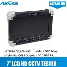 X42TA-5M 7″LCD HD-TVI3.0+AHD2.0+CVI+HDMI+VGA+CVBS Camera Video Monitor Tester