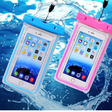 Universal Waterproof mobile phone case for iPhone 8 samsung S9 transparent PVC sealed underwater smartphone swimming