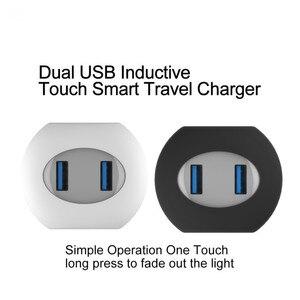 Image 2 - VOXLINK usb ładowarka sterowanie dotykowe led inteligentna ładowarka podróżna usb ładowanie indukcyjne dla iPhone Samsung Xiaomi ładowarka do telefonu komórkowego