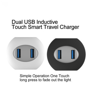 Image 2 - VOXLINK usb charger LED Touch Control Smart travel charger usb inductive Charging For iPhone Samsung Xiaomi Mobile Phone Charger