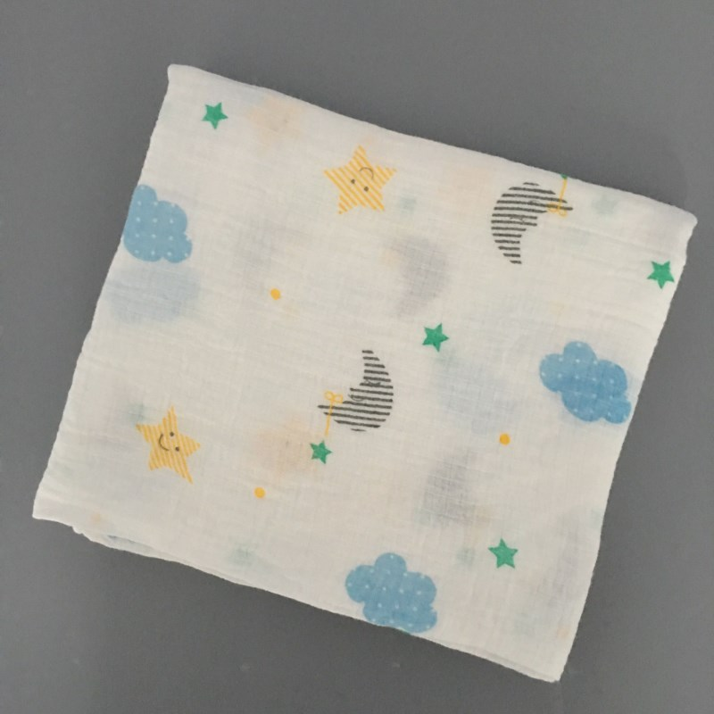 Sigzagor Multifunctional Muslin 100 Cotton Soft Newborn