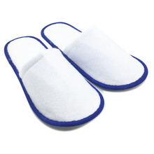 Купить с кэшбэком 20 pairs of White Towelling Hotel Disposable Slippers Terry Spa Guest Shoes blue