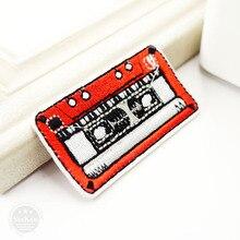Ностальгия кассеты размер: 3,3x6,2 см значки патч джинсы мешок шляпа Одежда Швейные украшения аппликация нашивки аксессуары