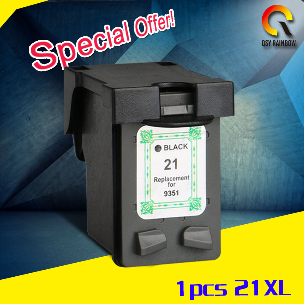 1pk bk for HP 21XL 22XL Ink Cartridges HP21 22 For HP OfficeJet J3650 J3680 Deskjet