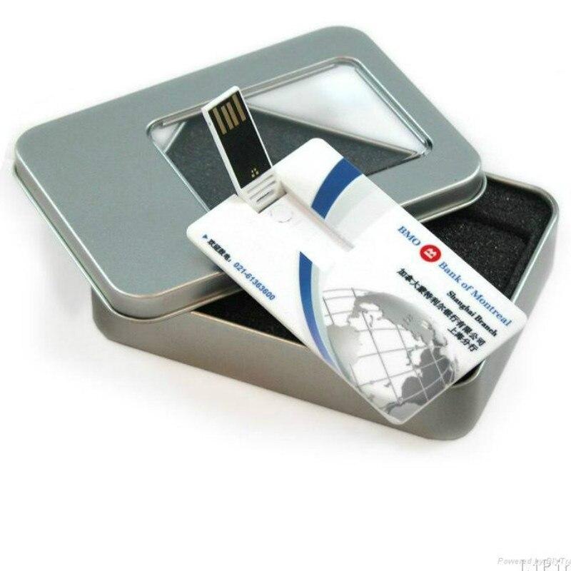 2018 Latest wholesale business card usb flash drive 16gb flash memory usb custom logo thinnest credit card Customised Logo