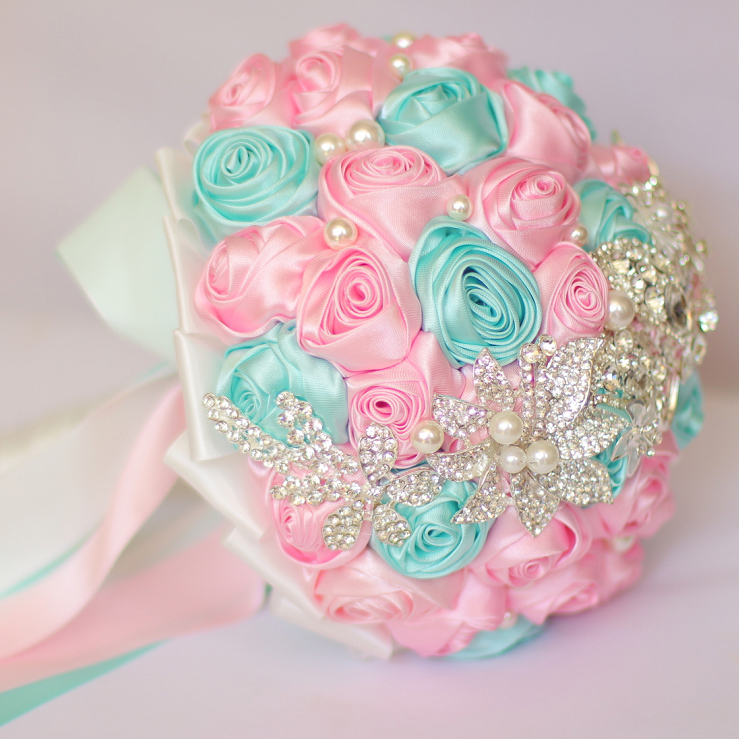 Aliexpress.com : Buy DIY brooch bouquet Silk Bride Bridal Wedding ...