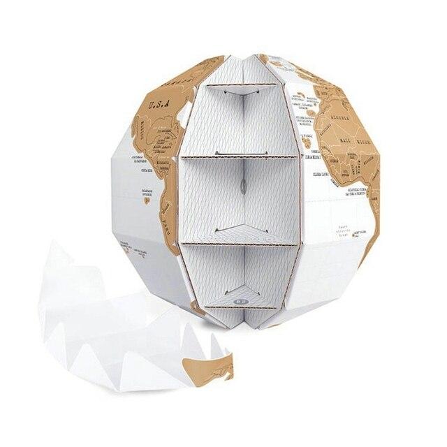 Globe 3D carte du monde à gratter 1