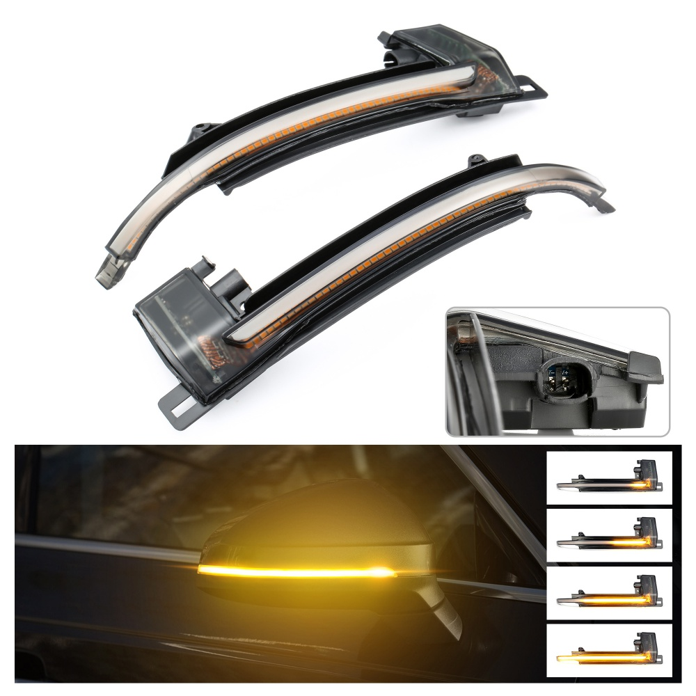 2pcs Dynamic Turn Signal Light <font><b>LED</b></font> Side Mirror Indicator Blinker Light For <font><b>Audi</b></font> A3 8P A4 B8 A5 B8 Q3 A6 C6 4F S6 SQ3 <font><b>A8</b></font> <font><b>D3</b></font> 8K image