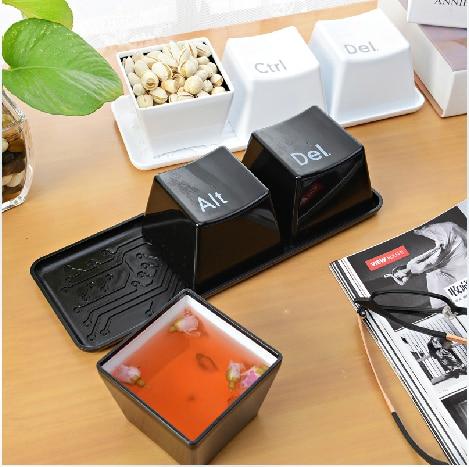 3pcs/Set Novelty Creative <font><b>Simple</b></font> Keyboard Ctrl ALT DEL Type Tea Coffee Mug <font><b>Cup</b></font> Container