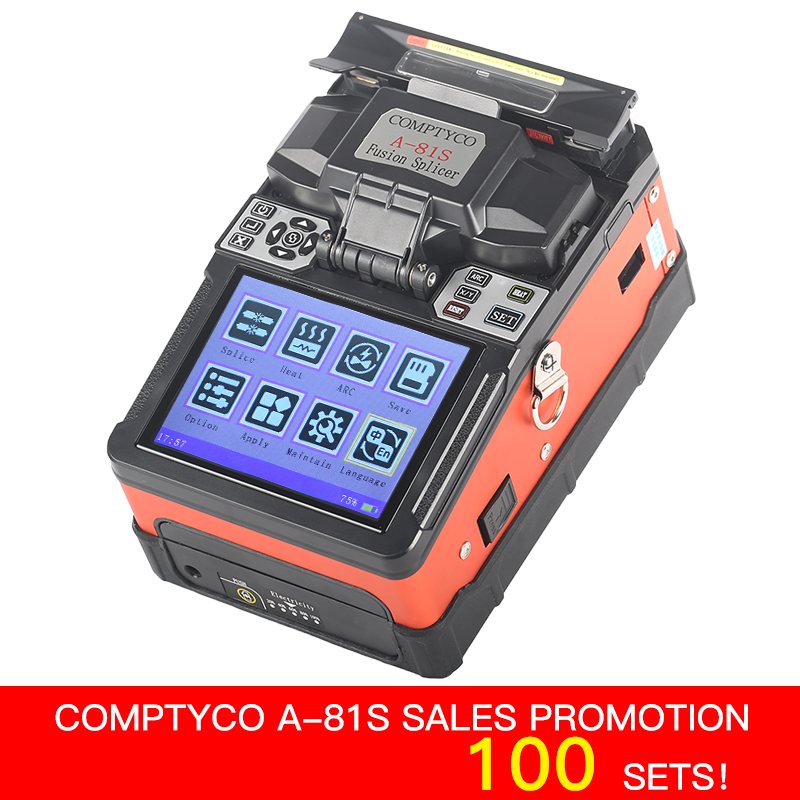 COMPTYCO FTTH Fiber Optic Welding Splicing Machine Optical Fiber Fusion Splicer A-81S New product
