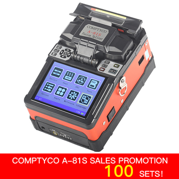 COMPTYCO Soldagem Splicer Fusão de Fibra Óptica Máquina de Emenda De Fibra Óptica FTTH A-81S Novo produto