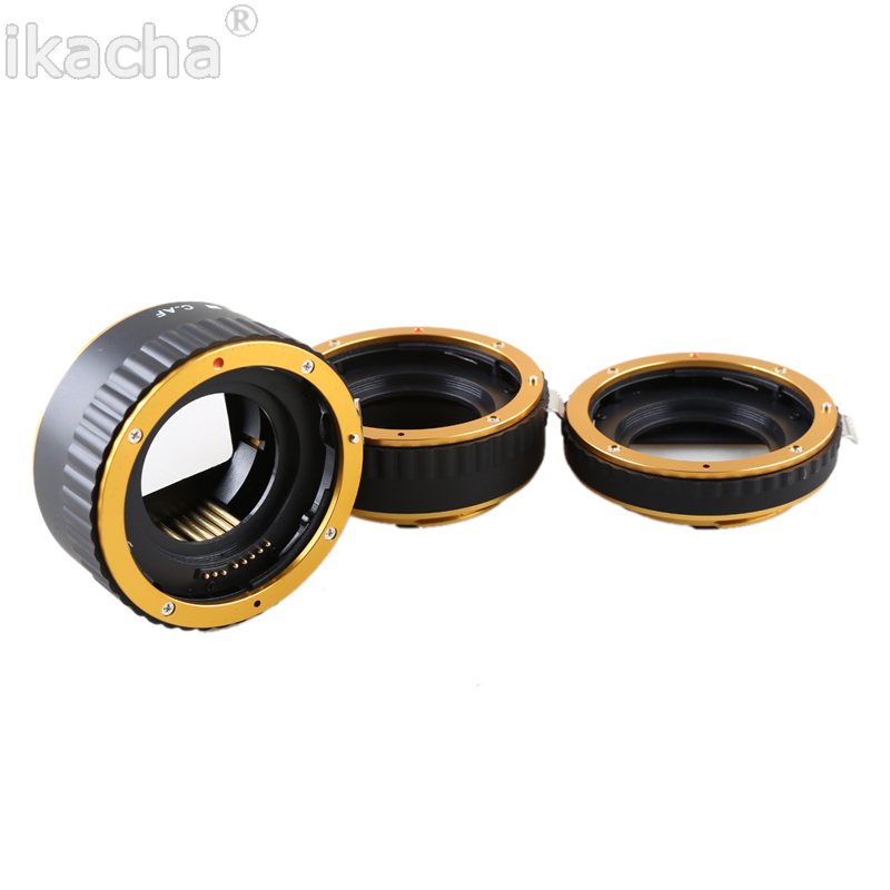 Metal Mount Auto Focus AF Macro Extension Tube Ring (5)