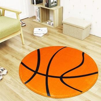 Black White Football/Basketball/Volleyball Round Carpet Best Children's Lighting & Home Decor Online Store
