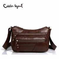 Cobbler Legend Elegant Genuine Leather   Bag   Female Multi Zipper Designer   Bag   Gift For Mum Women   crossbody     Bag   Vintage Handbag