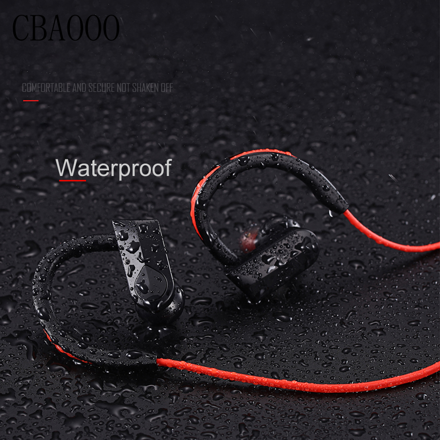 CBAOOO Waterproof earphones bluetooth 4.1 wireless sports headset aptx stereo headphones IPX4-rated with MIC for iphone samsung