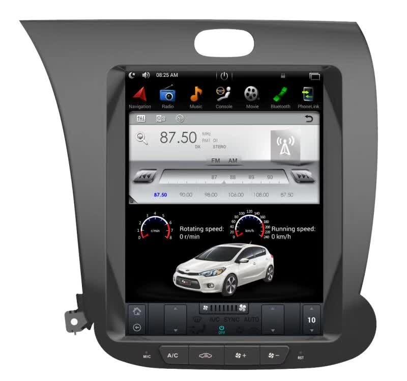 Tesla Style 2 Din Android 7.1 Voiture GPS Navigation Lecteur DVD pour KIA CERATO K3 FORTE 2013-2016 Gauche main de Chauffage de Siège Amplificateur