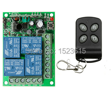 DC12V 4CH 10A wireless remote control switch system teleswitch 1X Transmitter + 1X Receiver relay smart house z-wave claire llewellyn kingfisher readers spiders level 4 reading alone