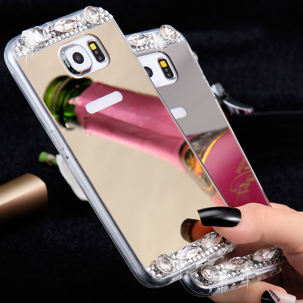 Diamond aluminum reviews online shopping diamond for Coque iphone 6 miroir