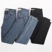 Stretch High Waist Jeans Women Spring Summer Slim Skinny Jeans Woman Pencil Pants Vaqueros Mujer Denim Black Jeans Femme C5237