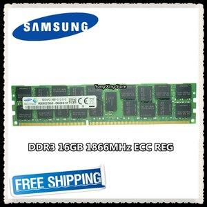 Серверная память Samsung DDR3, 16 ГБ, 32 ГБ, 1866 МГц, ECC REG, DDR3, регистр, DIMM RAM, 14900, 8G, 2RX4, X79