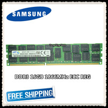 Memória ddr3 do servidor de samsung 16 gb 32 gb 1866 mhz ecc reg ddr3 PC3-14900R ram do dimm do registro 14900 8g 2rx4 x79