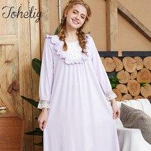Queenplus Female Sleep clothing Summer Autumn 95% cotton Nightgown Leisure  wear Sweety princess Sleepshirts(China a7607d1f3