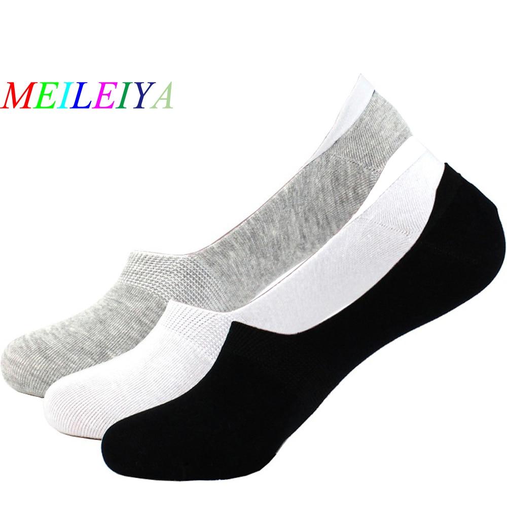 MEILEIYA 1 Pair New Fashion High Qualit Men Cotton Socks Summer Autumn Slippers 5 Color Premium Mesh Set Design Invisible Socks
