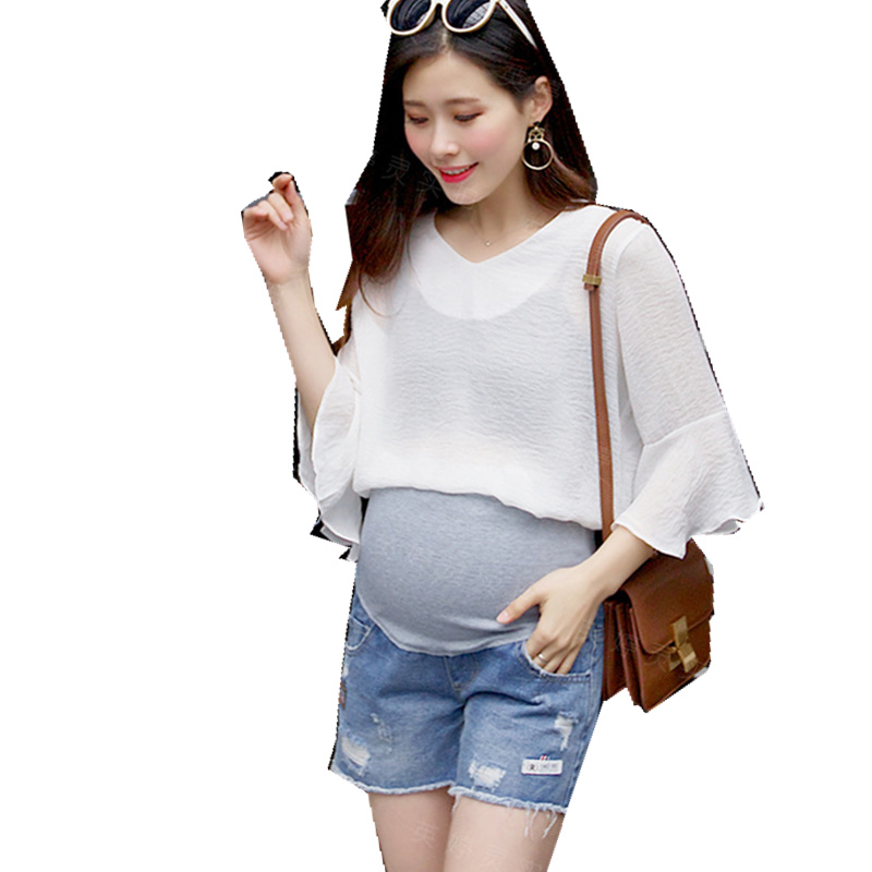 Korean fashion pregnant women shorts summer leggings wear ...