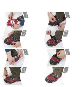 Image 4 - M/L גודל מלקחי 12 שיניים חיצוני העפלה טיולים נוגד החלקת קרח שלג נעל קוצים מלקחי נעלי Skidproof גבוהה באיכות