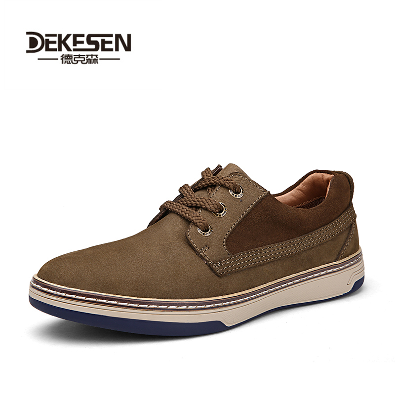 Dekesen 2017 New Men Classic British Casual Shoes, 100% genuine leather shoes, Walking shoes for Man, flats luxury male shoes dekesen brand vintage classic 100