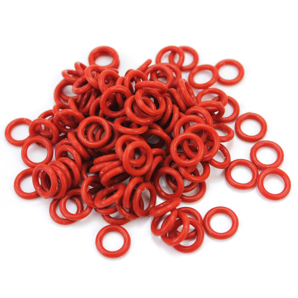 120Pcs Rubber O-Ring Switch Dampeners Dark Red For Cherry Keyboard Dampers Keycap O Ring Replace Part