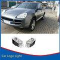 2 xLED Двери Автомобиля Проектор Логотип Тень Добро Пожаловать Свет Для Porsche Cayenne 2003-2006 Зажигания и Play Wireless