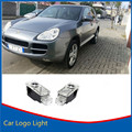 2xLED Car Door Projector Logo Shadow Welcome Lights For Porsche Cayenne 2003-2006 Plug&Play Wireless