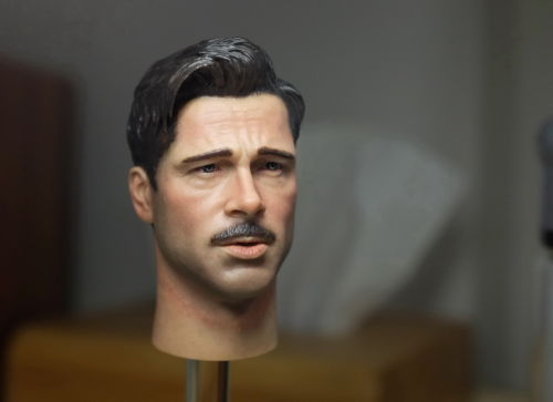 Brad Pitt Male Head Sculpts Model Toys 1/6 Scale Inglourious Basterds Man Head Carving Model For 12   Male Action Figure 1 6 scale male head sculpts model toys downey jr iron man 3 captain america civil war tony with neck sets mk45 model collecti f