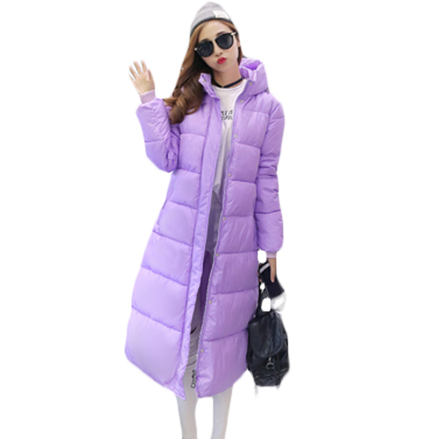 Best Price Womens Inverno Plus Size Parkas Feminino 4XL Long Candy Color Cotton Jacket Winter Women Big Size Midi Outerwear Fashion XH899