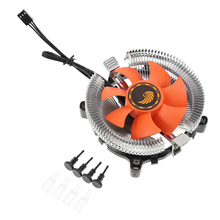 CPU Cooler Fan 12V Hydraulic Bearing Heatsink Fan Computer PC Case Air Cooling Radiator for Intel 775 1150 1155 1156 AMD754 939 pccooler v6 4 copper heatpipes cpu cooler suitable fan amd intel 775 1150 1151 1155 cpu radiator cooling cpu fan pc quiet