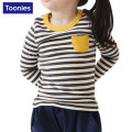 Girls Fashion T-shirts 2017 Spring Autumn Baby Girls Clothes Long Sleeve Striped T-shirts For Kids Girls Clothing Costume