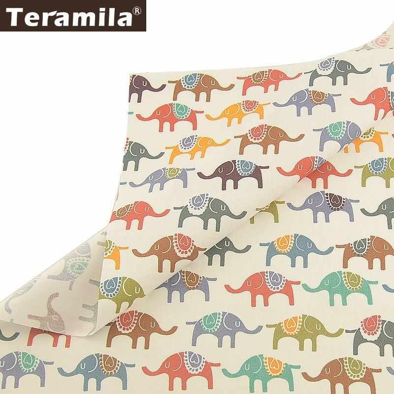 Teramila % 100% pamuk dimi kumaş ev tekstili DIY Patchwork dikiş bezi Tissu Tecido köpek evcil hayvan tarzı Tela kapitone dekorasyon