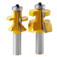 2pcs 1 2 X 1 1 8 Tongue Groove Router Bit V Joint V Notch Matched