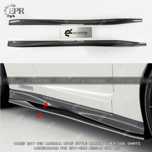 For Nissan GTR R35 2017 MY17 VRS Style Carbon Side Skirt Extension Trim Styling Carbon Fiber Side Skirt Splitters R35 GTR Tuning все цены